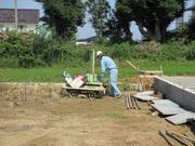 3LDK駅近建売住宅、地盤調査・基礎工事始めました。