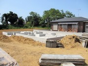 3LDK駅近建売住宅、基礎工事完了しました。